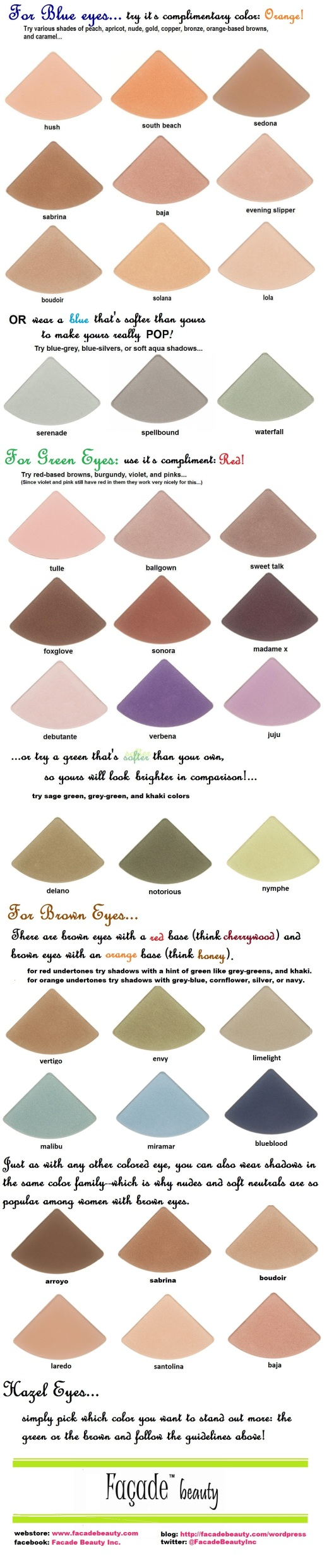 best eyeshadows for colored eyes