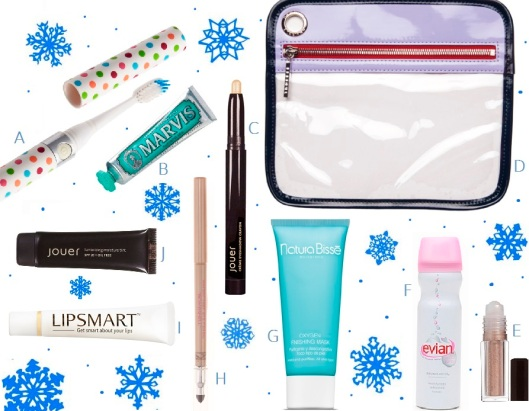 The Jet Setter gift guide with snowflakes